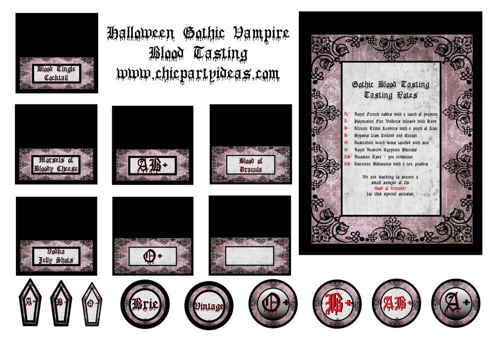 Halloween Gothic Vampire Printables