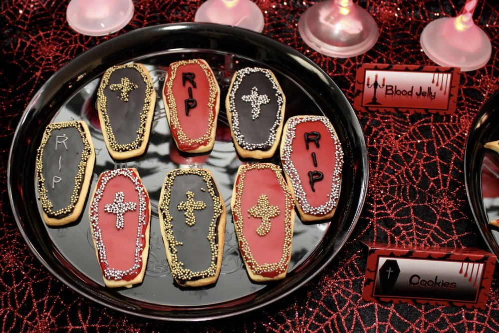Halloween Coffin Cookies