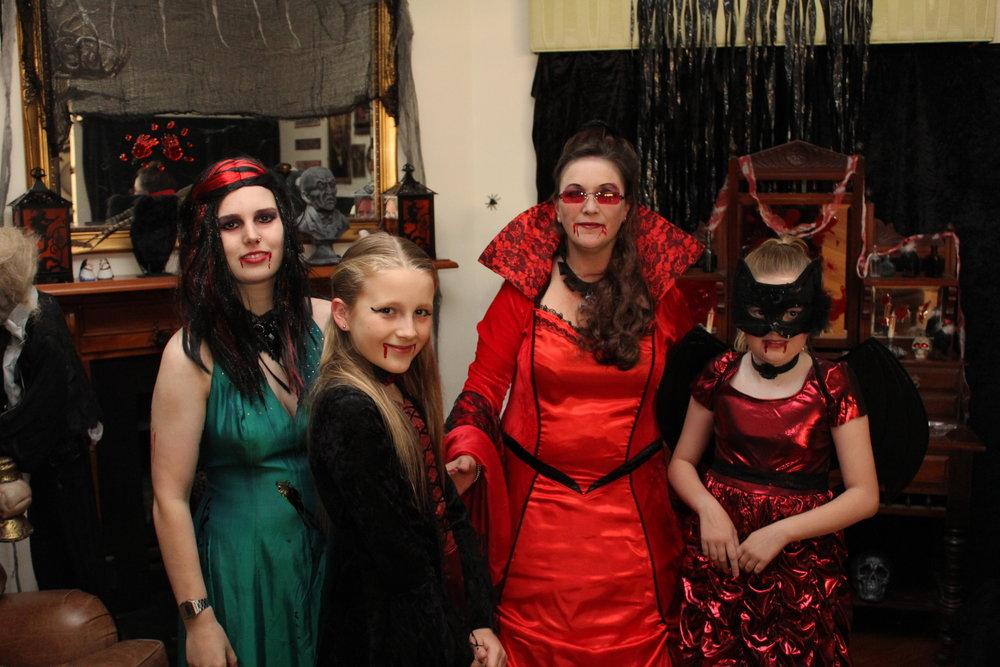 Halloween Vampire Family