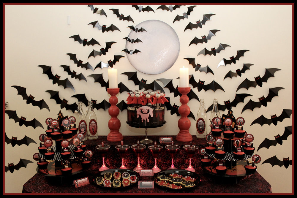 Halloween Vampire Dessert Table