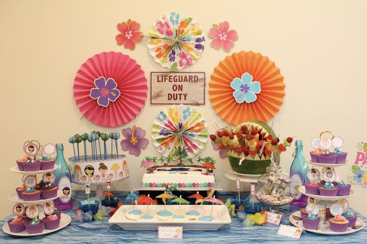 Pool Party Dessert Table