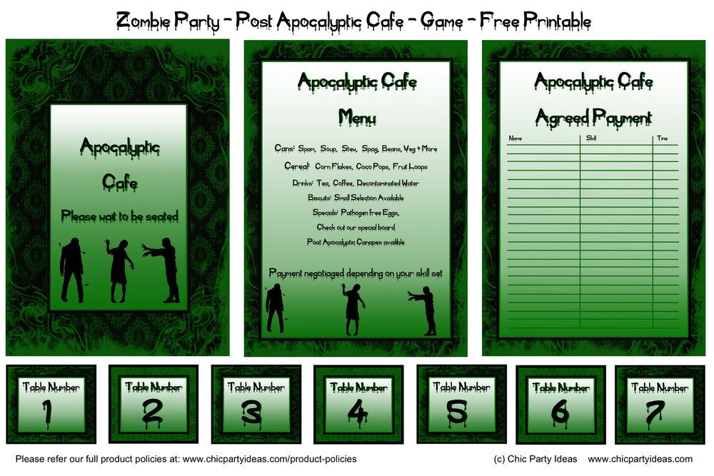 Zombie Apocalypse Printables