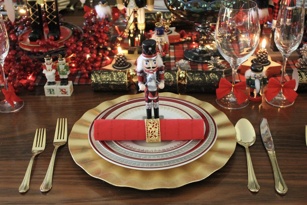 Nut Cracker Christmas table Place Setting
