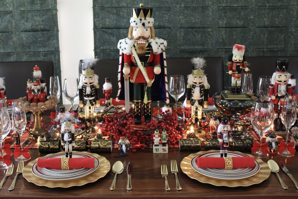 Nutcracker Christmas Table Centre Piece