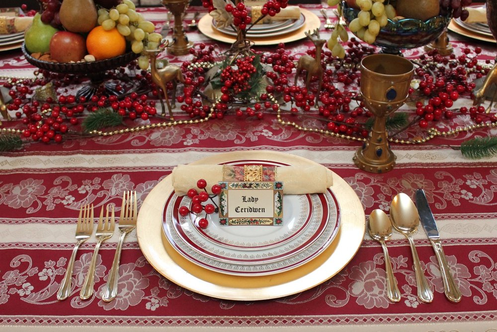 Medieval Dinner Party Place Settings