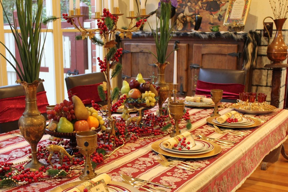 Medieval Dinner Party Table Settings
