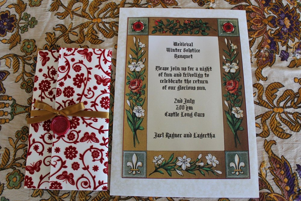 Medieval Dinner Party Invitations