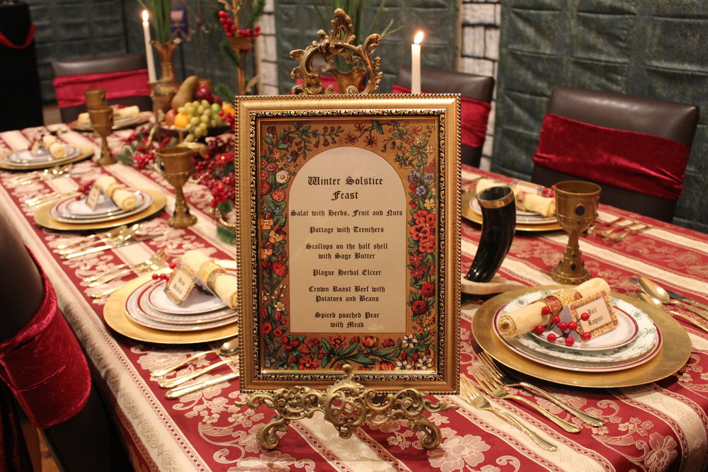 Medieval Dinner Party Menu