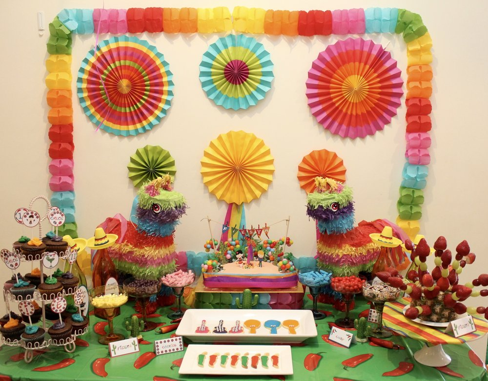 Mexican Party ideas Dessert Table