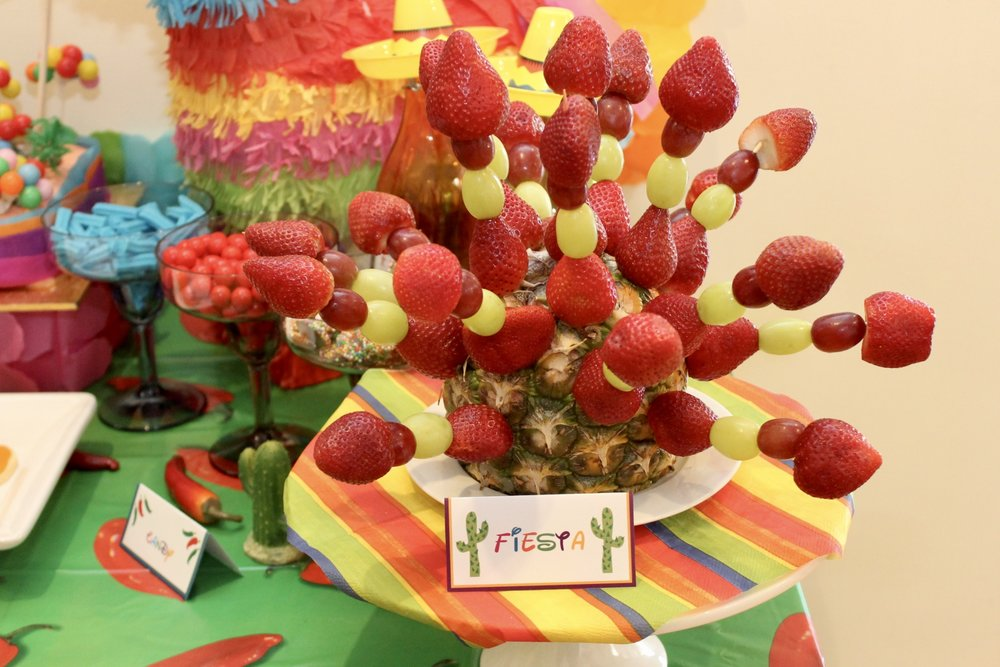 Mexican Party Fruit Skewers