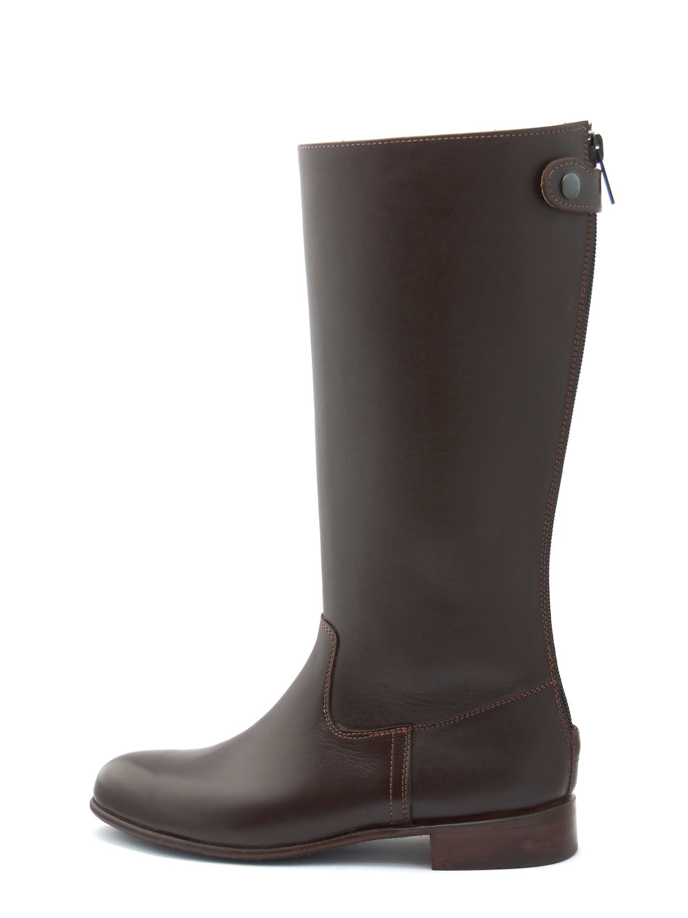 Polocrosse Boots with Flat Tops (Zip-Up)
