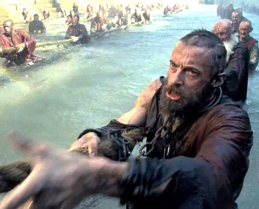 Image from the recent film Les Miserables, starring Hugh Jackman as