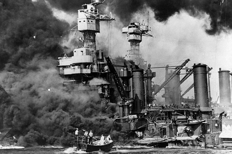 Image of December 7, 1941 attack on Pearl Harbor courtesy of Flikr user US Army.