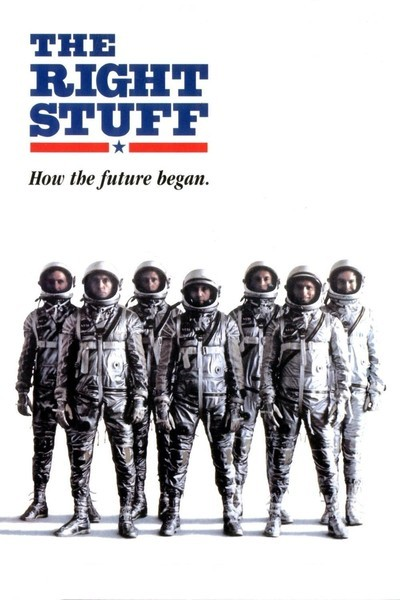 Image of The Right Stuff movie poster courtesy of RogerEbert.com.