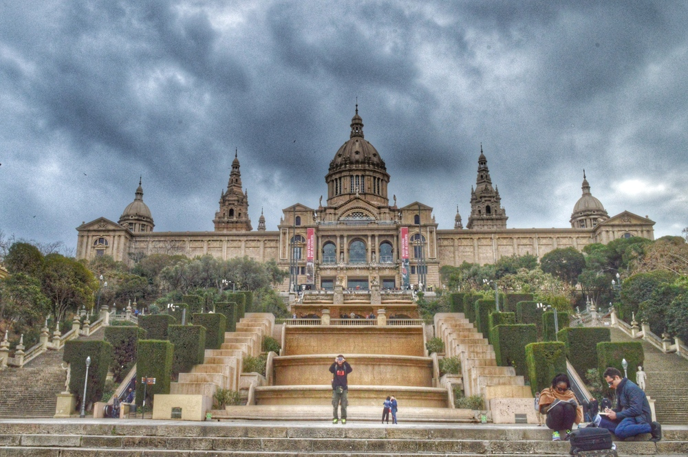 A few from the bottom of the steps at Museu Nacional d'Art de Catalunya