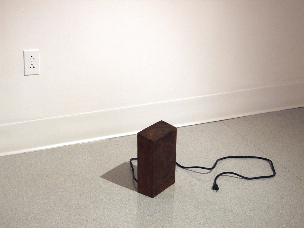 Untitled - mahogany and electrical cord