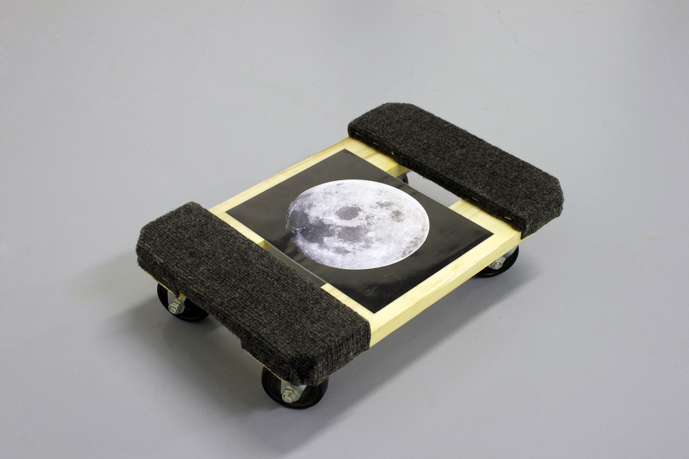 Untitled - moon photograph and cart