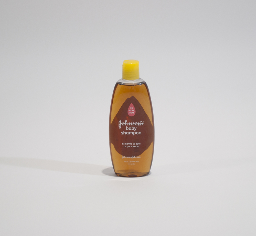 no more tears - johnson's baby shampoo bottle and bourbon