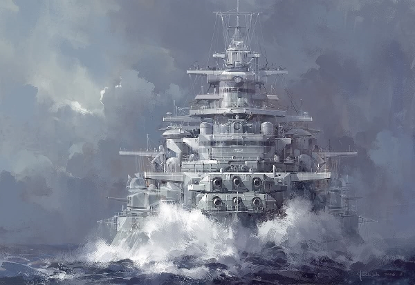 "Battleship ""cannae"" once more crewed by loyal imperial hands"
