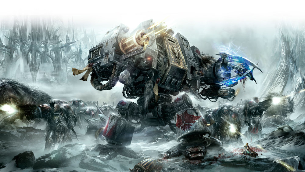 space wolves reach the outskirts of hive nord - but can get no further...