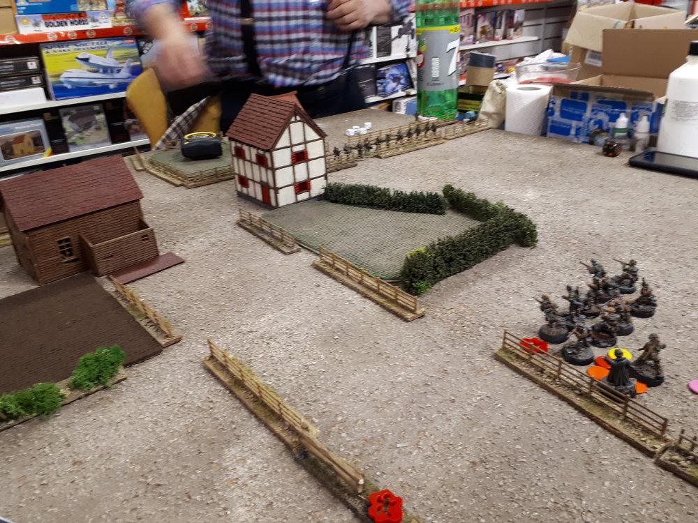 Waffen SS advance centrally