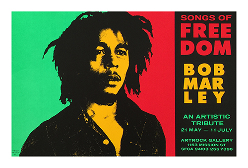 Cynthia Wigginton's iconic Bob Marley image
