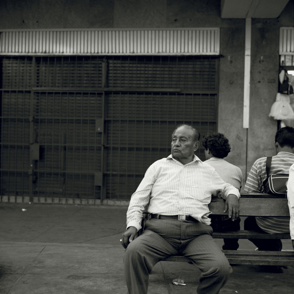 Man Waiting for Bus