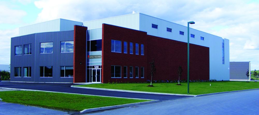 Notre usine de fabrication à Terrebonne.