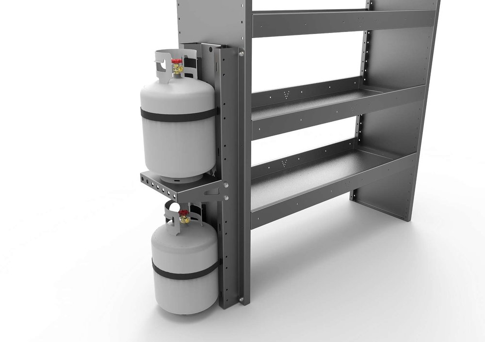 VERTICAL GAZ BOTTLES SUPPORT (DOUBLE)