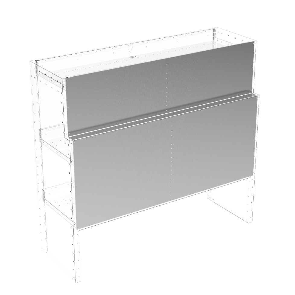 Shelving module's back cover