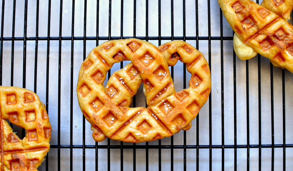 Waffled Soft Pretzels | 25 Inventive Waffle Iron Recipes To Make With Your Waffle Maker
