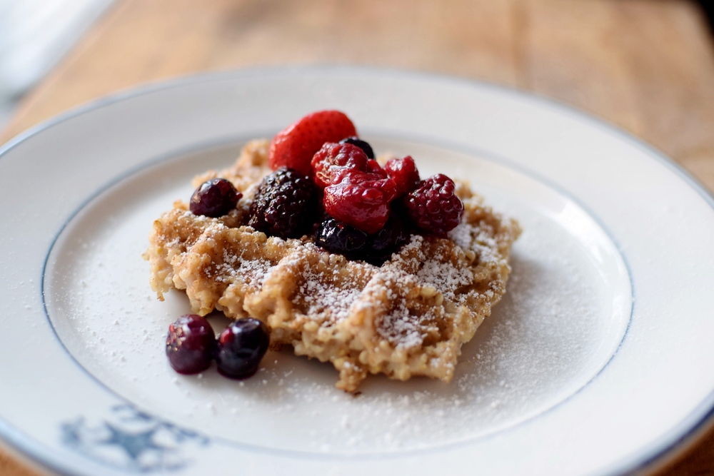 Waffled Steel-Cut Oats