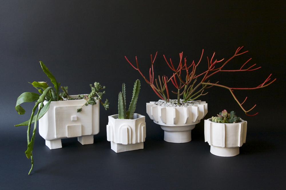 Metropolis Pots   Handbuilt stoneware