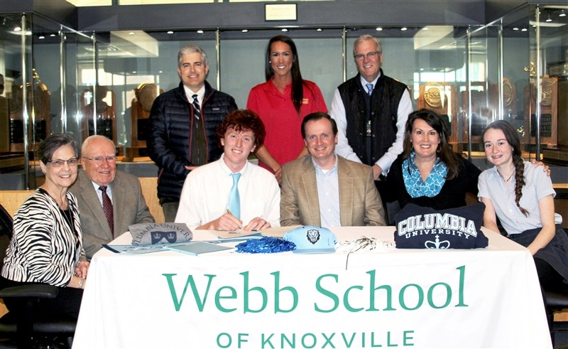 Senior Ryan Lee signs his letter of intent to row at Columbia University. Surrounded by his coaches, school principal, family, and friends, Ryan's celebration took place Webb School on Tuesday, January 31st, 2017. (Photo by Cathy O'Gorman/Webb School of Knoxville)