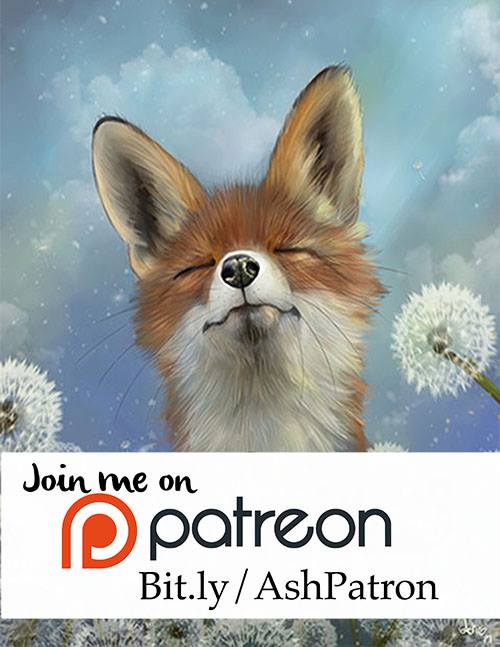 Ash is on Patreon - Support living artists in a fun interactive way!