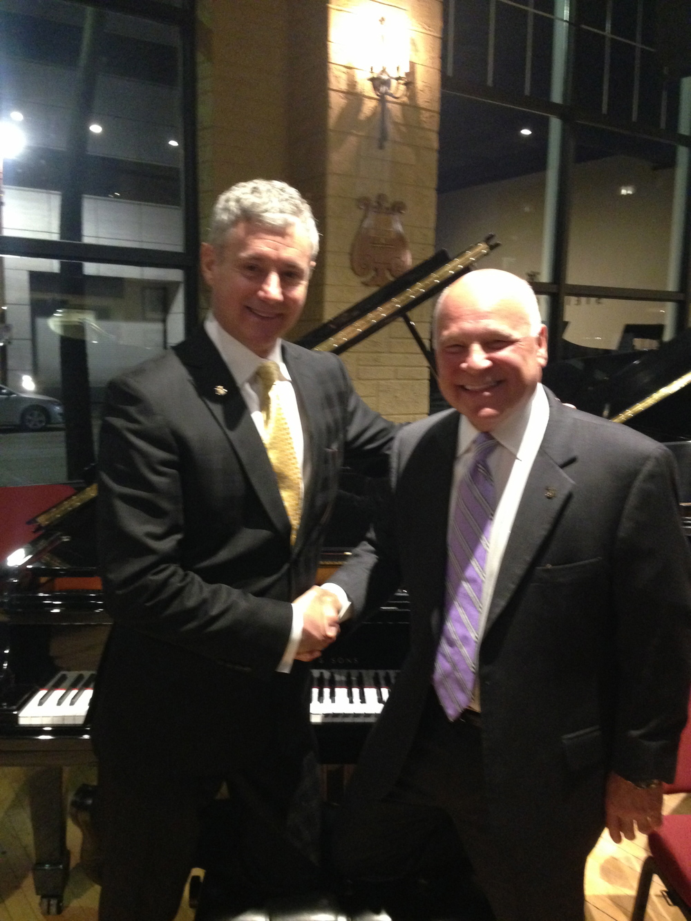 Joe with Steinway President Ron Losby