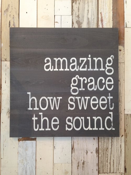 "Wood Wall Hanging amazing grace"" wood wall hanging — melissa benge collection"