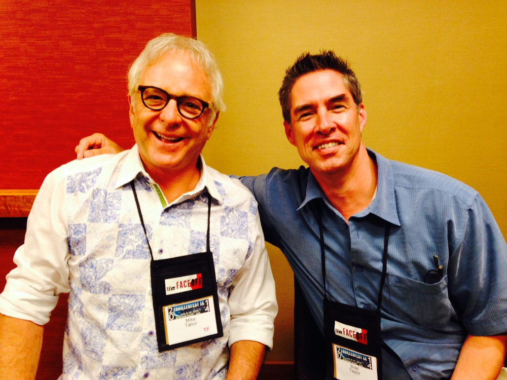 Mike Tabor with New York Times best selling thriller author Brad Taylor
