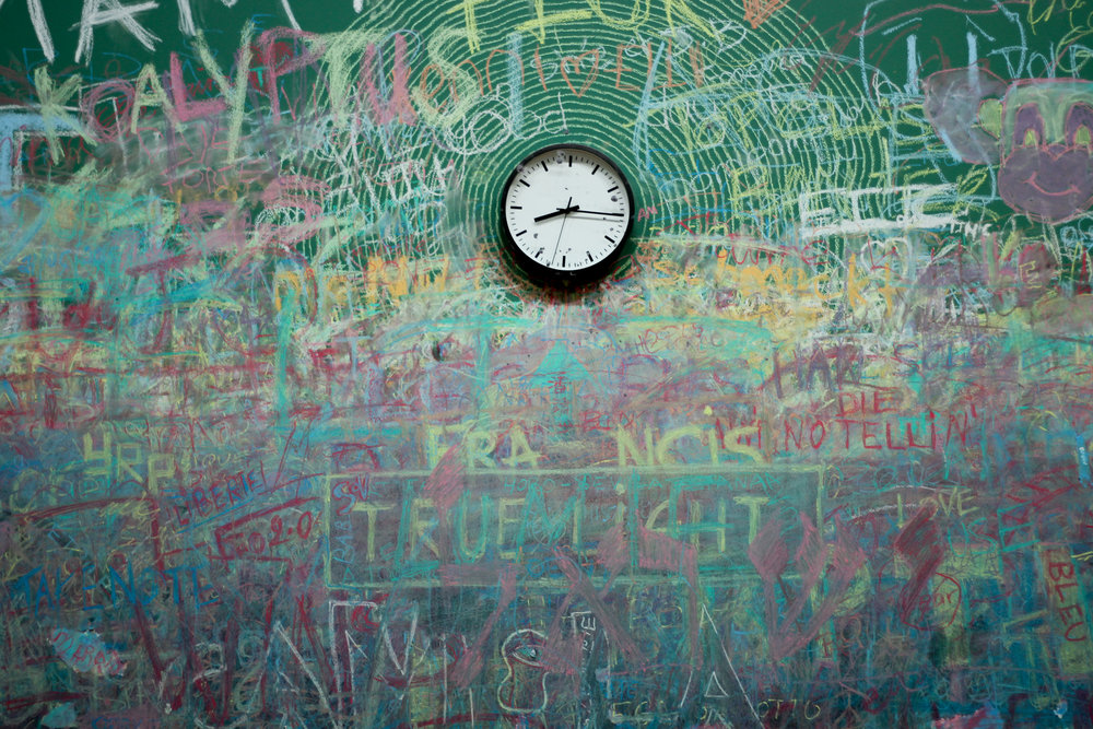 Time ticks by as we scribble out our lives...
