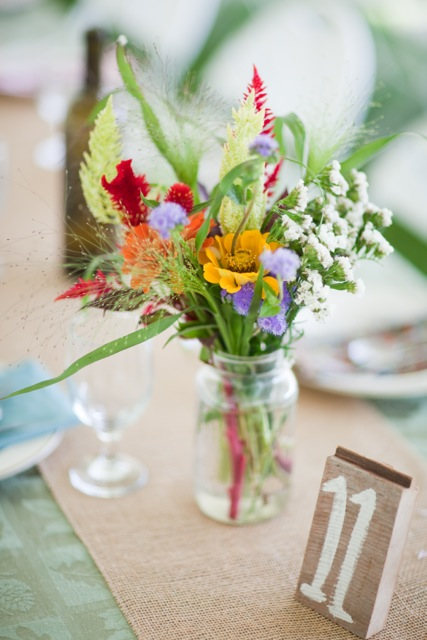 Summer Camp Wedding Centerpiece