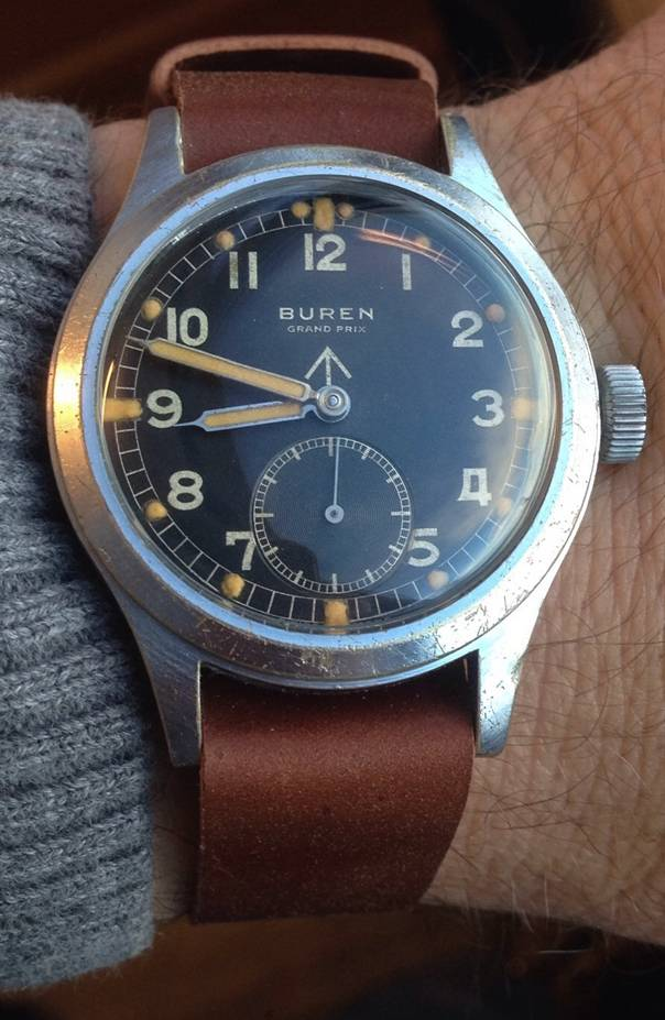 A beautiful Buren WWW on a one-piece strap. Wow.
