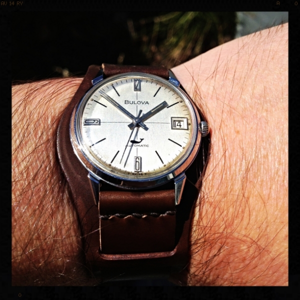 Bulova Sea King on Bund strap in Walnut.