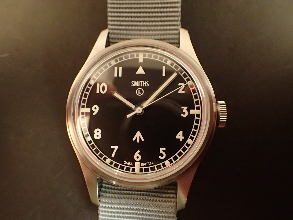 Smiths PRS-29B.  One of the nicest tribute watches money can buy. Here is one to wear with your Wooly Pully sweater.