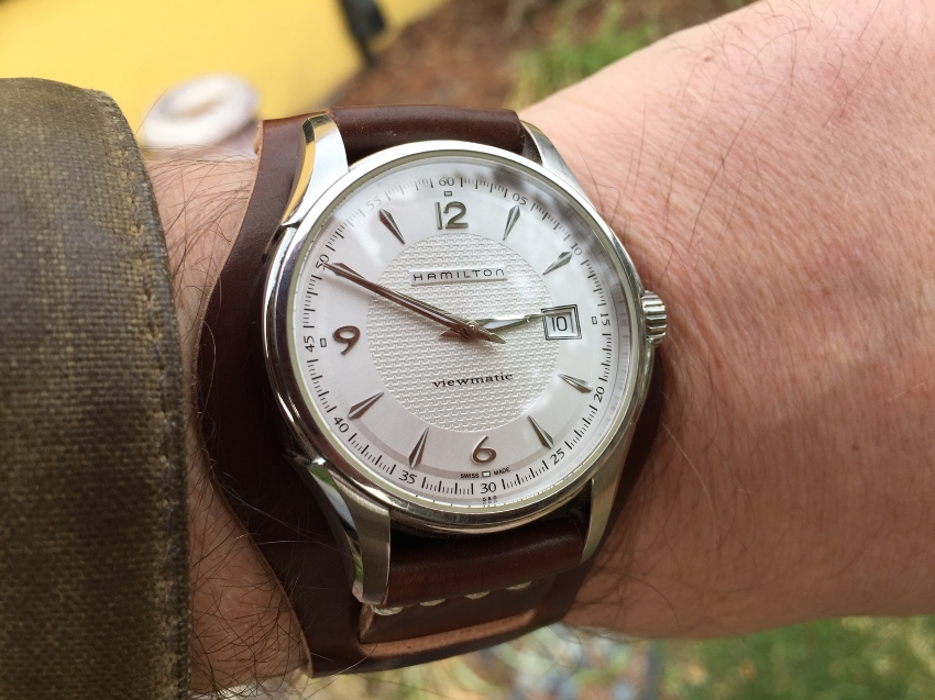 Hamilton Viewmatic on a Bund strap in No. 8 shell.