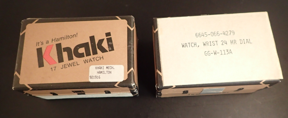 ...and next to a standard Khaki 9219 box.