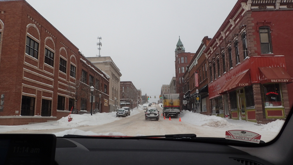 Downtown Marquette, Michigan.