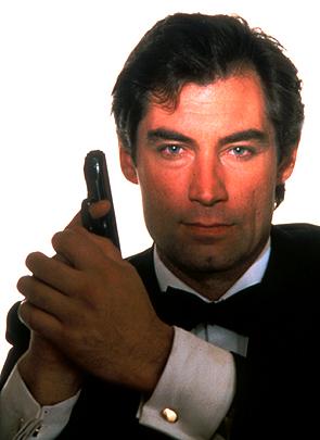 Timothy Dalton as 007. The Walther returns.