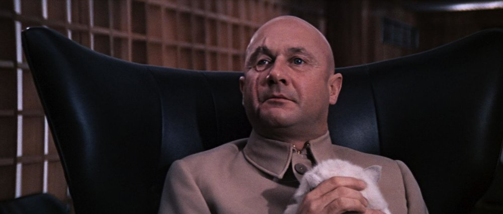 """Donald Pleasence as Ernst Stavro Blofeld. """"You only live twice, Mr. Bond."""""""