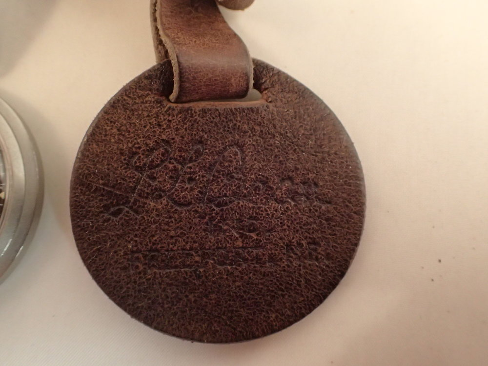 The leather fob is unusual to find.