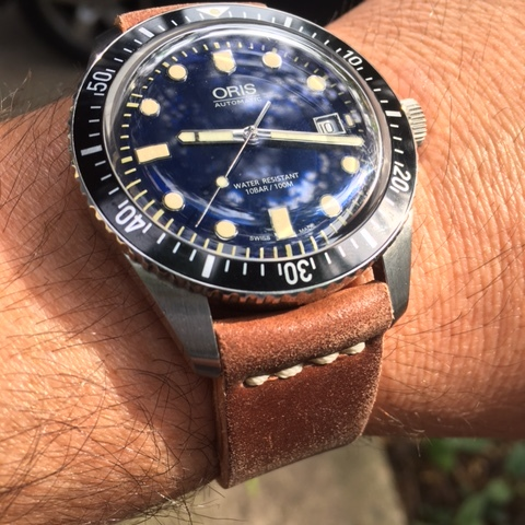 Oris Diver's Sixty-Five Blue on Natural two-piece.  This watch is amazing!